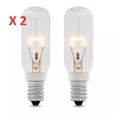 2 x 40w SES E14 Clear Lamp Tubular Cooker Hood Extractor Light Bulb Pack 350L