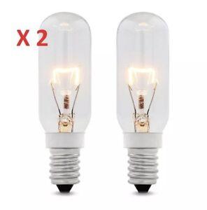 4 x 40w SES E14 Clear Lamp Tubular Cooker Hood Extractor Light Bulb Pack 350L