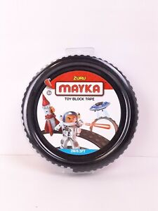 New in Package Zuru MAYKA Black Toy Block Tape 2M 6.5 Ft Remove and Reuse