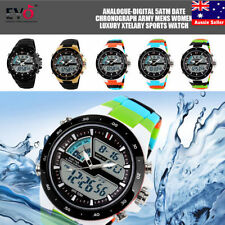 Stainless Steel Case Luxury Analogue & Digital Wristwatches
