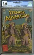 STRANGE ADVENTURES #1 CGC 3.0 CR/OW PAGES