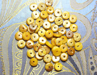 100% Natural Baltic Poland Yellow Amber Egg Yolk Loose Beads Gemstone 10pcs