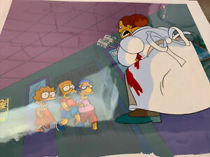 The Simpsons  ORIGINAL ANIMATION TREEHOUSE OF HORROR BART LISA  MILHOUSE CEL ART