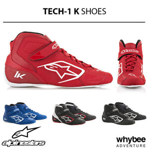 Sale! Alpinestars 2020 TECH-1 K Kart Racing Karting Boots Microfibre Fabric