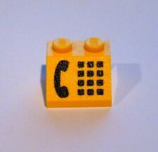 LEGO Yellow Slope 45 2 x 2 with Phone Black Pattern 9360 9553 9364 6395