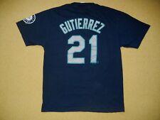 SEATTLE MARINERS Blue Baseball Team #21 FRANKLIN GUTIERREZ T-SHIRT Men's LARGE
