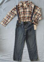 Carter's Just One You Toddler Boys' 3pc Fall Dressy Plaid Set, size 4T