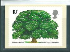 wbc. - GB - PHQ CARDS - 1974 - TREES - HORSE CHESTNUT - SINGLE CARD SET MINT