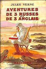 "JULES VERNE "" AVENTURES DE 3 RUSSES & 3 ANGLAIS"" GALLAND BIBLIOTHEQUE VERTE 1932"