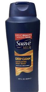Suave Men Deep Clean Exfoliating Body Wash Large Size 28 oz. Sandalwood New