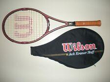 New listing WILSON JACK KRAMER STAFF MIDSIZE 85 TENNIS RACQUET 4 3/8 ST.VINCENT