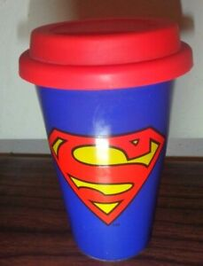 Superman Ceramic Travel Coffee Tea Mug Cup