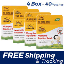 [ 4 Box = 40 Patch ] Mosquito Repellent Patch TIGER BALM No Deet Free Shipping
