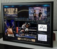 ANTHONY JOSHUA  KLITSCHKO Wembley Framed Canvas Print Signed Great Gift-Souvenir