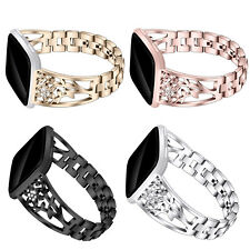 Floral Starfish Metal Strap Bling Diamonds Bracelet for Fitbit Versa Watch Band