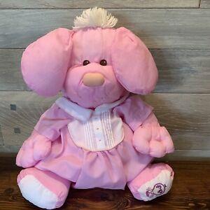 Puffalump Puppy Dog Fisher Price 1986  #8003 Pink Romper Plush Vintage