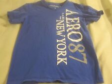 Aeropostale blue v-neck t-shirt, teenager, young man, small, new york ~ 1868