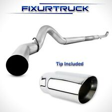 """MBRP 5"""" Exhaust For 01-10 Chevy/GMC Duramax 6.6L No Muffler With Tip"""