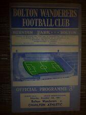 1964/65 Football League: BOLTON WANDERERS v CHARLTON ATHLETIC - Postponed match