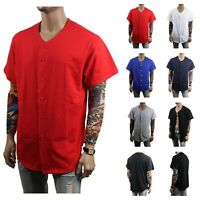 Men Baseball Jersey T-Shirt Plain Sports Raglan Fashion Hipster & Kids COTTON