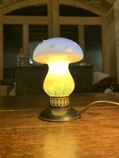 1950's Italian Murano Glass Mushroom Table Lamp, Copper Base