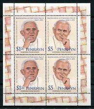 Penrhyn 2011 Papst Johannes Paul II. Pope John Paul II. 668-69 Kleinbogen MNH