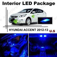 Blue LED Lights Interior Package Kit for Hyundai Accent 2012-2013 ( 6 Pieces )