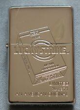 ZIPPO-LUCKY STRIKE -LE-#0371-HIGH POLISHED CHROME CASE-1999-MINT-RARE