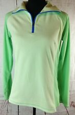 Columbia Pullover Fleece Jacket Womens Size Small Green 1/2 zip