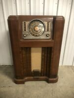 1942 Vintage Crossley 02CA Floor Console Radio