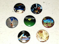 7 Buttons 1 Inch Pin Yes Close To Edge Tales Yessongs Drama Relayer - LOT D