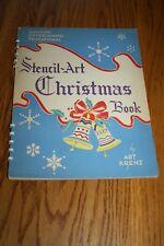 VINTAGE STENCIL ART CHRISTMAS BOOK BY ART KRENZ