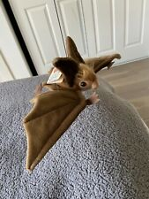 Realistic Flying Brown Bat Plush Soft Toy by Hansa 15 inch wingspan
