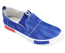 Tanggo AA-8 Flat Shoes Sneakers Slip-On Men's Fashion Shoes (light blue jeans)
