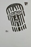 Richard Haizmann, Großer Original Holzdruck, Nachlass, signiert, Redner