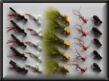 25 New Foam nappes main Tied Trout dry fishing nappes fly for Rod Reel Line X BN