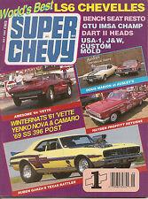 Super Chevy Mag - May 1989 - LS6 Chevelles - GTU IMSA - Yenko Nova and Camaro