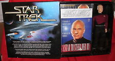 "Star Trek 12"" Masterpiece Captain Jean-Luc Picard-The Captain's Series 1997 Mib"