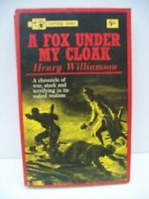 Book, A Fox Under My Cloak by Henry Williamson, 1963 PB