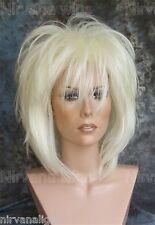 LARGE FIT.  White Blonde Layered Womans Nirvana Tina Turner Drag? Wig