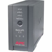 APC UPS 500VA/300W Power backup UPS System 6 outlets Model BK500BLK