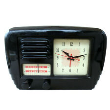 POTTERY BARN / BAKELITE ALARM CLOCK RADIO / RETRO BAKELITE ALARM CLOCK RADIO