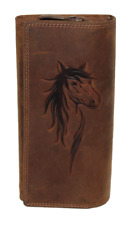 RFID/NFC Geldbörse Pferd Naturleder Büffelleder Damenbörse Geldbeutel Portmonai