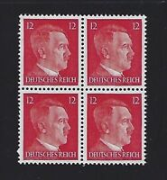 MNH  Adolph Hitler stamp block, 1941, PF12, Original Third Reich Germany Block