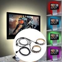 2x USB 5V 5050 RGB LED Streifen Light Bar TV Hintergrund Party Beleuchtung 50cm`