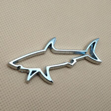 Silver Metal Fin Shark Car Emblem Auto SUV Fish Badge Sticker Accessories Decal