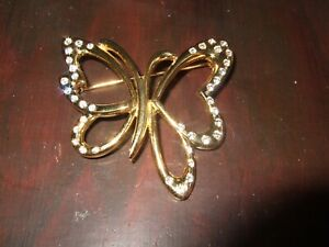 Elizabeth Montgomery's Gold & Diamond Butterfly Brooch Bewitched