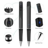 Pocket Pen Camera Hidden Spy Mini Portable Body Cam Audio Video Recorder Black