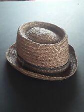 Original 1920's Mens Straw Hat Hobo Music Americana Cap Milan Made in Italy RARE