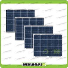 Set 4 Pannelli Solari Fotovoltaici 50W 12V multiuso Pmax 200W Baita Barca